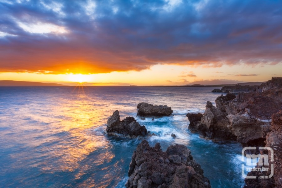 La Perouse, Maui, Hawaii at Sunset.